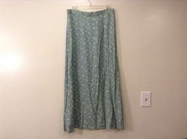Vintage Studios Long Mistic Gray Floral Skirt Sz Large
