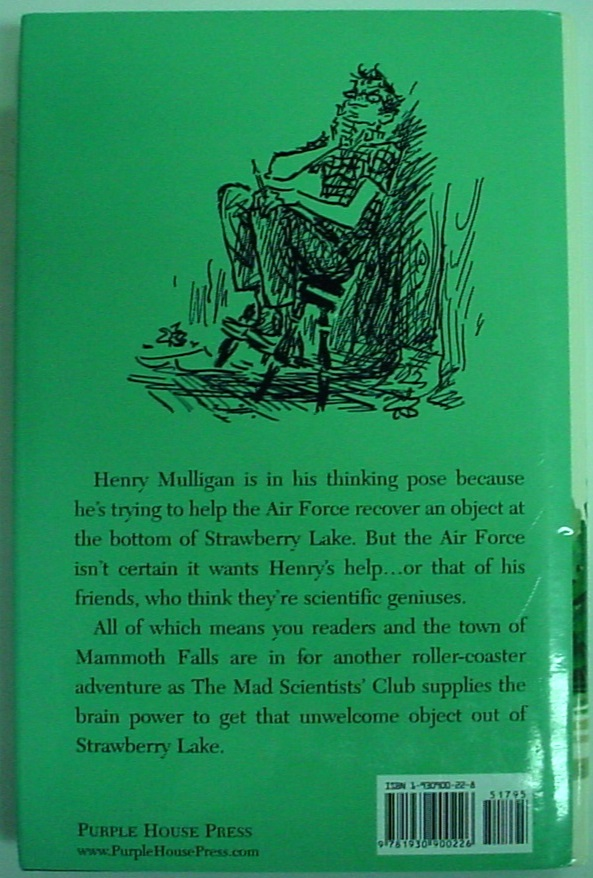 The Big Kerplop Mad Scientists' Club Bertrand R. Brinley hcdj Purple House Press