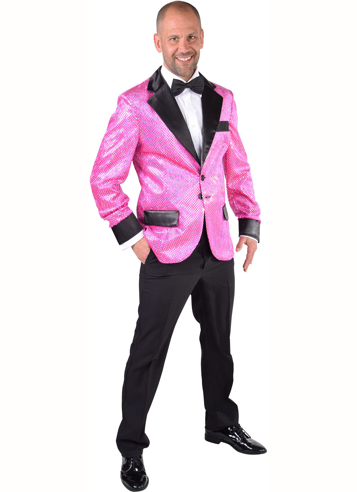 Camp Cabaret Jackets - Pink with Silver Sequins - XS-XXL