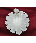 Lenwile Ardalt Verithin china white porcelain ruffled dish - $9.75