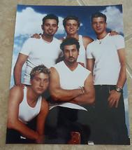 N Sync Timberlake Fatone Chasez Bass Kirkpatrick Color 8x10 Photo Promo - $7.99