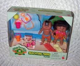 Cabbage Patch Kids BeachTime Twins Mini Hispanic Boy & Girl Playset Mattel '98  - $14.59