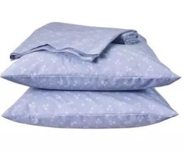 Simply Shabby Chic AshWell Sheet Set Twin 3Pc White Blue Floral Rosebud - $35.99