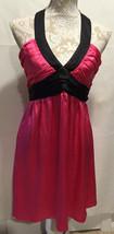 Betsey Johnson 100% Silk Fuchia Black Party Holiday Formal Sleeveless Dr... - $560,68 MXN