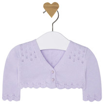 Mayoral Baby Girl 0M-12M Semi Openwork Knit Cardigan Sweater