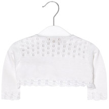 Mayoral Baby Girl 0M-12M Semi Openwork Knit Cardigan Sweater image 2