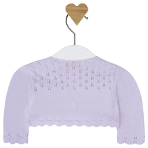 Mayoral Baby Girl 0M-12M Semi Openwork Knit Cardigan Sweater image 2