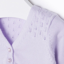Mayoral Baby Girl 0M-12M Semi Openwork Knit Cardigan Sweater image 3