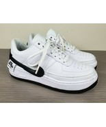 Nike Air Force 1 Jester XX, White Leather / Black, Womens Size 8 US / 39 - $82.16