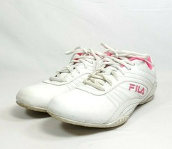 Fila Radiant Sport Sneakers Women's Sz 9.5/41 White Faux Leather (tu10ep) - $28.00