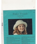Fiber Trends Knitting Pattern Felted Bowler Hat... - $3.99