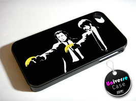 Banksy Pulp Fiction Black Comedy iPhone 4S Case Hard Plastic - $14.85