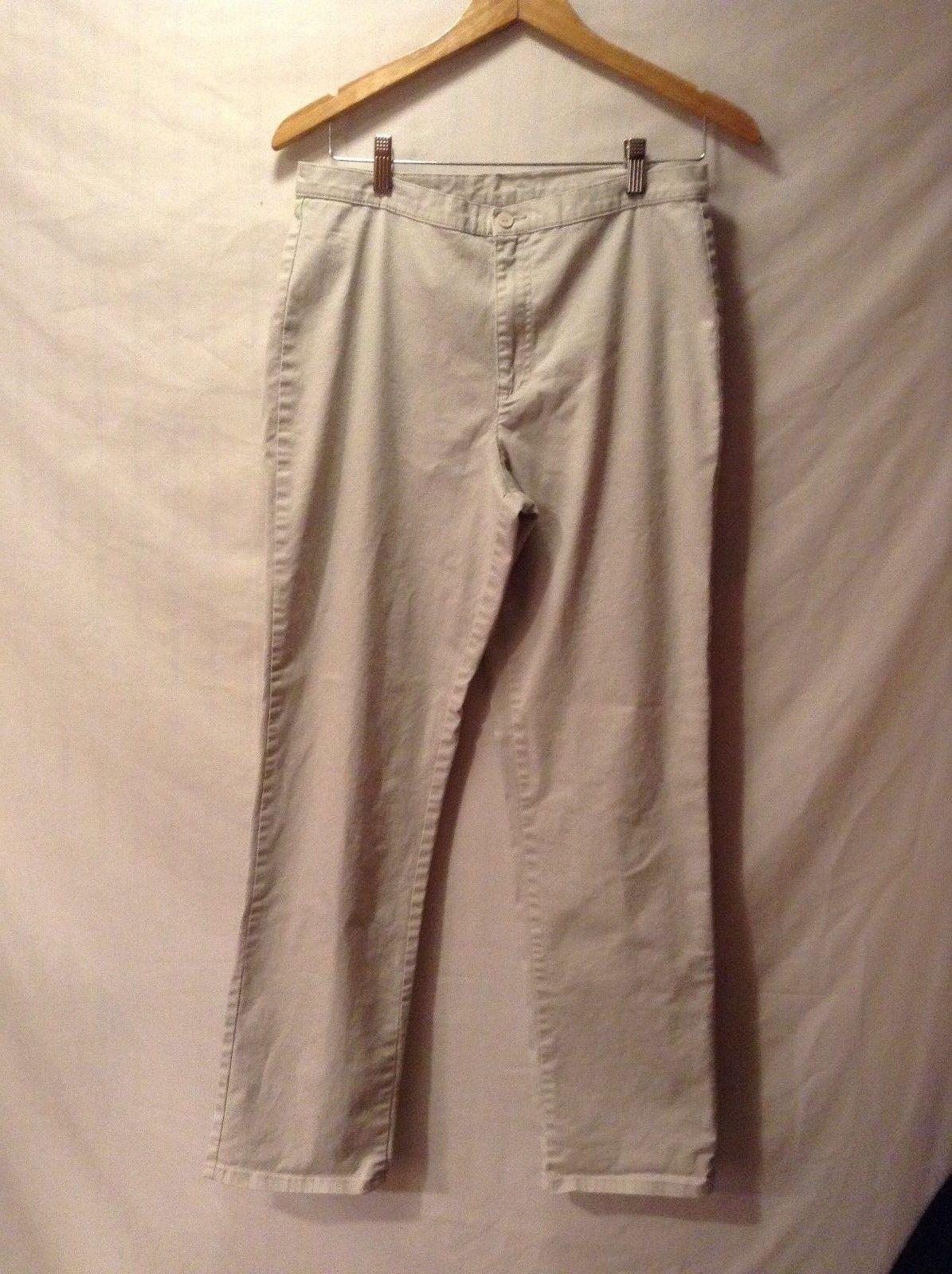 Ladies Calvin Klein Beige Jeans Sz 10