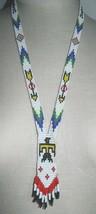 VTG Southwestern Tribal Multi-Color Beaded Thunderbird Arrow Neck Tie Necklace - $74.25