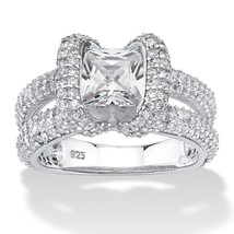 PalmBeach Jewelry 2.70 TCW CZ Ring in Platinum over .925 Sterling Silver - $34.82