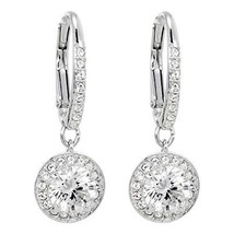 Authentic Swarovski Attract Clear Crystal Leverback Earrings - $66.57