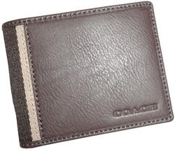 Men's Coach Heritage Web Leather Slim Billfold ... - $138.00