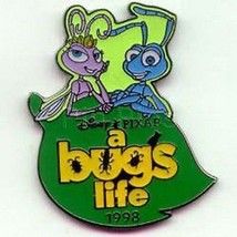 Atta and Flik dated 1998  on Leaf Disney A Bug's Life authentic pin/pins - $19.98