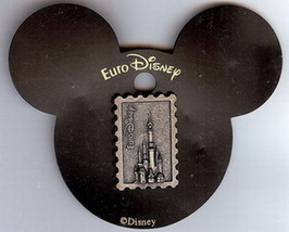 Castle Stamp Like rare Euro Disney On original card Authentic Disney Pin - $19.98