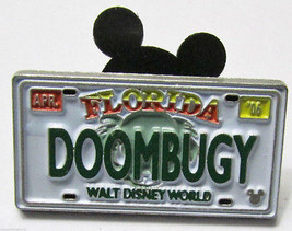 DOOMBUGY License Plate CM Only Authentic Disney Cast Lanyard Never Sold pin - $33.99