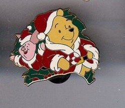 Winnie the Pooh and piglet  Christmas Walt Disney Authentic pin - $15.99