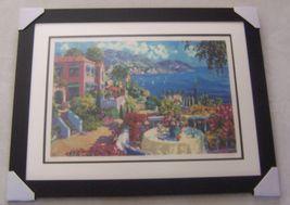 Julian Askins Terrace Morning LTD Serigraph Framed - $168.00