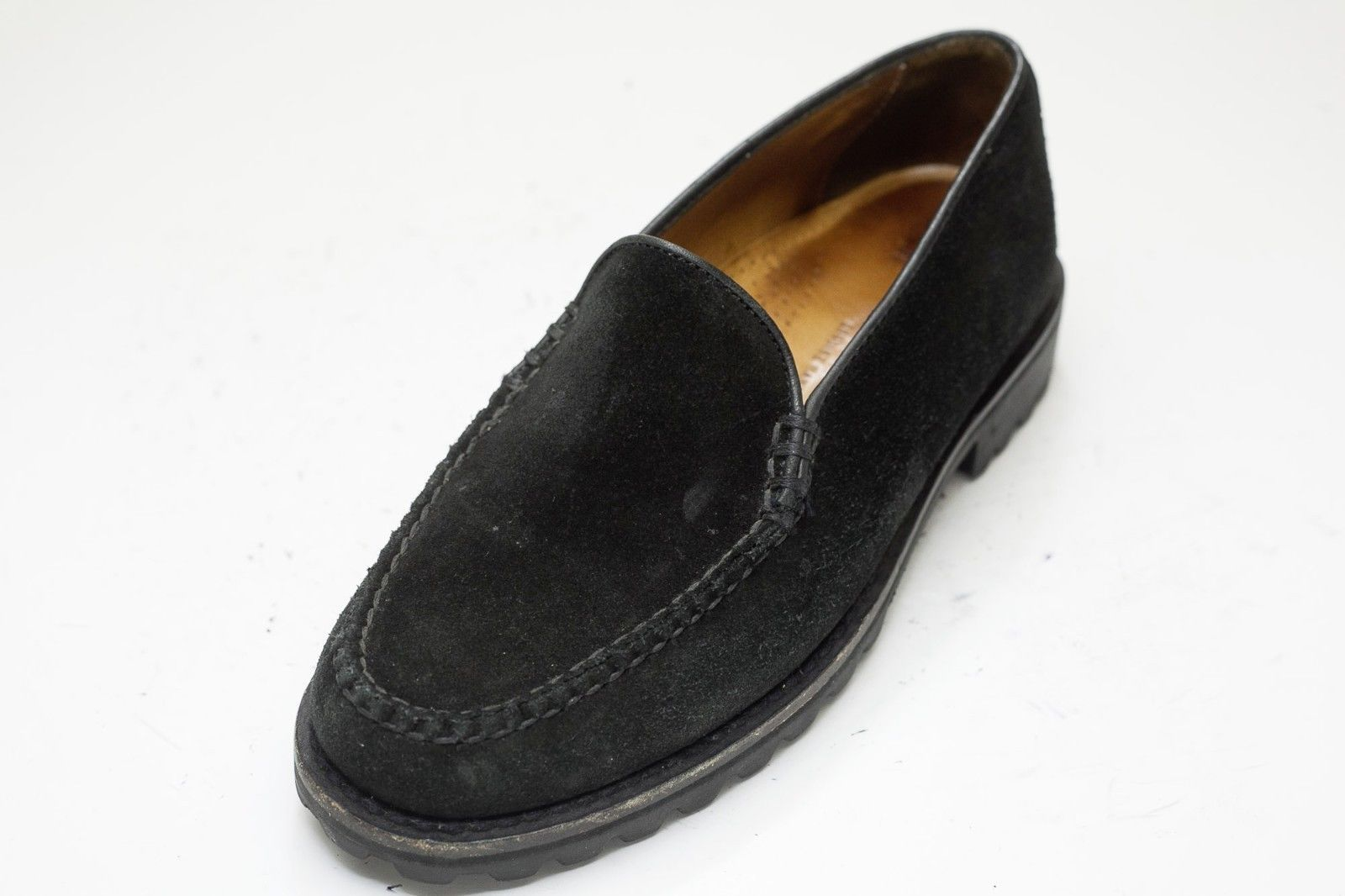 Cole Haan 6 Black Suede Slip On Loafer Women's image 3
