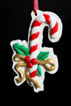 Hand painted ceramic Christmas Holiday Ornament... - $7.00
