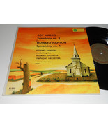 ROY HARRIS HOWARD HANSON NM- Symphony No. 3 & 4 Eastman Rochester Sympho... - $24.70
