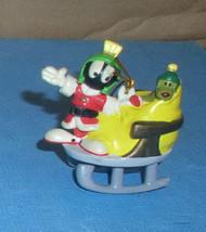 Marvin the Martianfull body as Santa in sled  Looney Tunes Ornament - $19.98