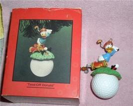 Donald Duck  golf Figurine Disney Ornament Made of Resin - $49.99