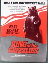 Disney magic King of Grizzlies History 1970 Advertising  Promotional item - $19.98
