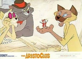 Aristocats Walt Disney Productions  Vintage Lobby Card - $44.99