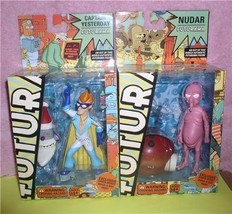 Futurama Fry Capt Yesterday and Nudar buid a Sata build a Robot 2 action... - $89.99