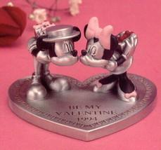 Disney Mickey & Minnie Valentine Pewter Figurine - $89.99