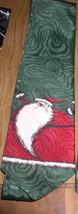 Santa tie Nightmare Before Christmas Never warn Sandy Claws Green  and R... - $15.45