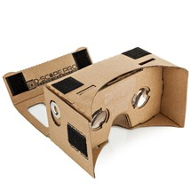 Google Cardboard Kit w/ Straps 3D Virtual Reality Compatible w/ Android ... - $12.19