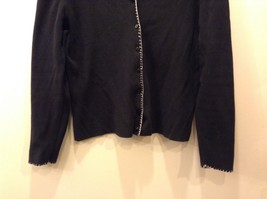 Women's Loulou Black Button Up Long Sleeve Cardigan Size S image 3
