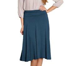 DBG Women's Teal Midi Flare Skirt-XS - $23.75