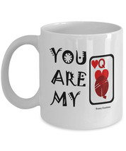 You Are My Queen of Hearts Coffee Mug - Perfect for Valentines Day, Birt... - $14.95