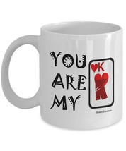 You Are My King of Hearts Coffee Mug - Perfect for Valentines Day, Birth... - $14.95