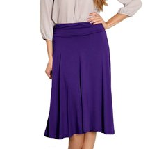 DBG Women's Purple Midi Flare Skirt-XS - $23.75