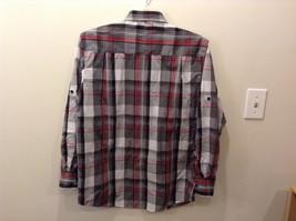 Beverly Hills Polo Club Plaid Long Sleeve Button Up Collared Shirt Size M image 5
