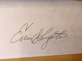 "ENOS SLAUGHTER Signed 3""x5"" Baseball Index Card -Guaranteed Authentic - $9.94"