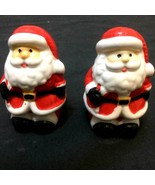 New Christmas Twins SANTA CLAUS SALT PEPPER SHAKERS Ceramic Holiday Clas... - $3.93