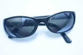 Maui Jim Black sunglasses frame used pre-owned one lens cracked free shi... - $20.00
