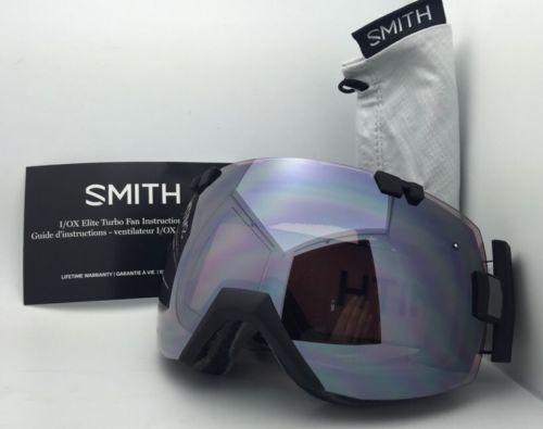 c3ea196ae9 New SMITH OPTICS I O X TURBO FAN Goggles Black w  Ignitor+Red Sensor
