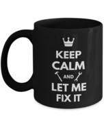 Handyman Mechanic Gift Funny Coffee Mug Keep Calm Let Me Fix It Ceramic ... - £16.42 GBP
