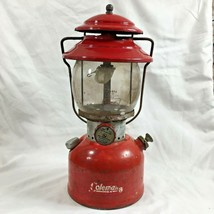 VTG Coleman 200A Red Single Mantel Lantern High Top Ventilator Pyrex Glo... - $108.07