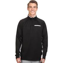 Fila Pull Over 1/4 Zip Athletic Running Exercise Jacket  Black Gray  Sz L - $23.31